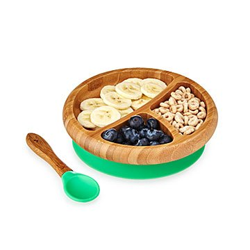 Bamboo Suction Baby Plate Set