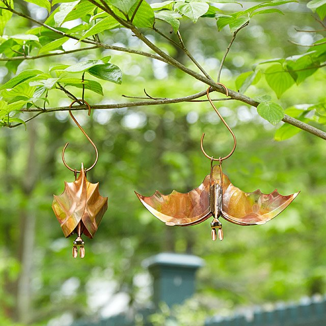 Backyard Bat Hanging Sculptures