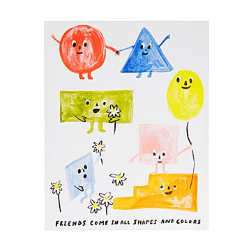 Friends of All Shapes Risograph Print