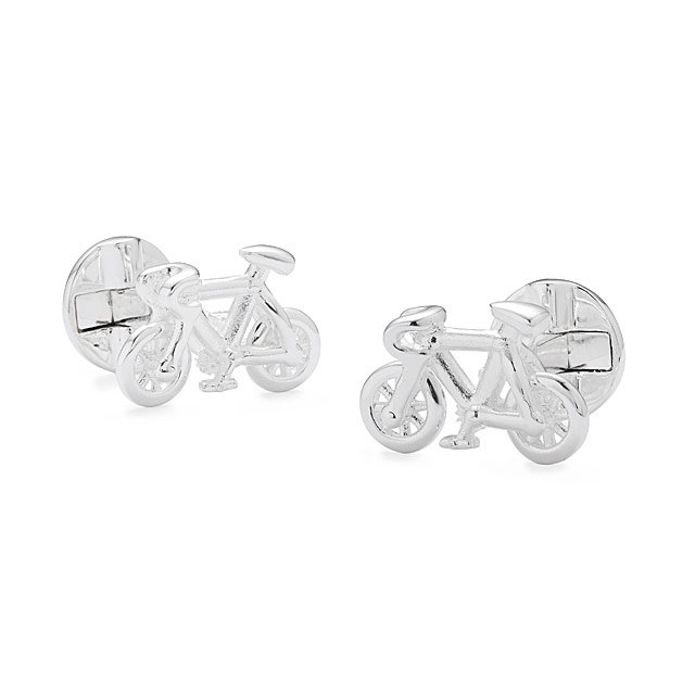 Moving Bicycle Cufflinks
