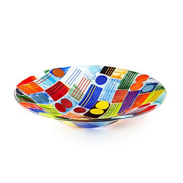 Multicolor Patch Serving Bowl