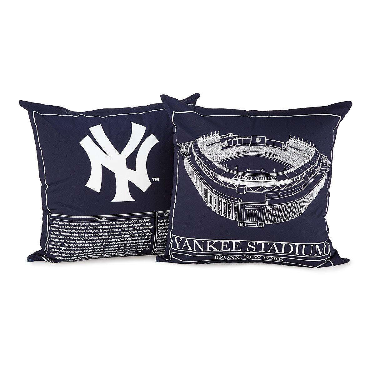 Baseball Stadium Blueprint Pillow Team Colors Sports