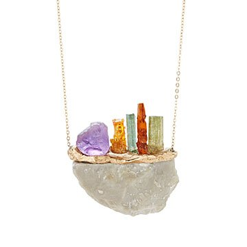Gemstone Sunset Necklace