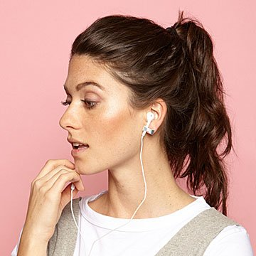 Earbud-Holding Bow Stud Earrings