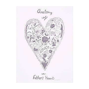 Anatomy of a Father's Heart Screen Print