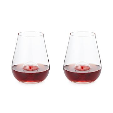 Crystal Aerating Stemless Wine Glass Set