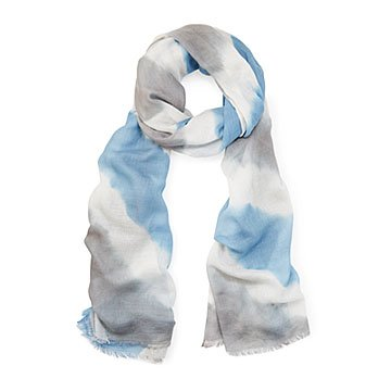 Hand Dyed Diagonal Tie Dye Scarf