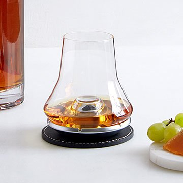 Whiskey Tasting Glass & Chilling Coaster