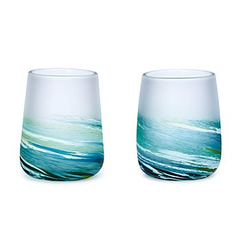 Sea Spray Wine Glass Set