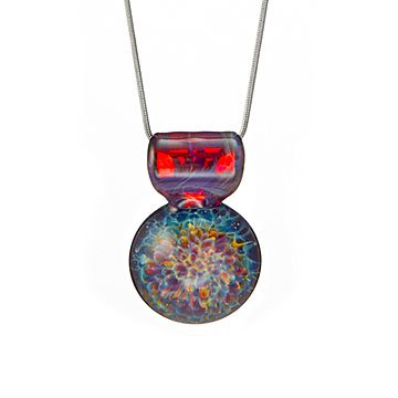 Nebula Implosion Glass Necklace