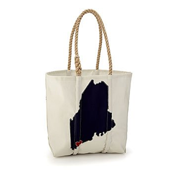 Personalized State Love Sailcloth Tote