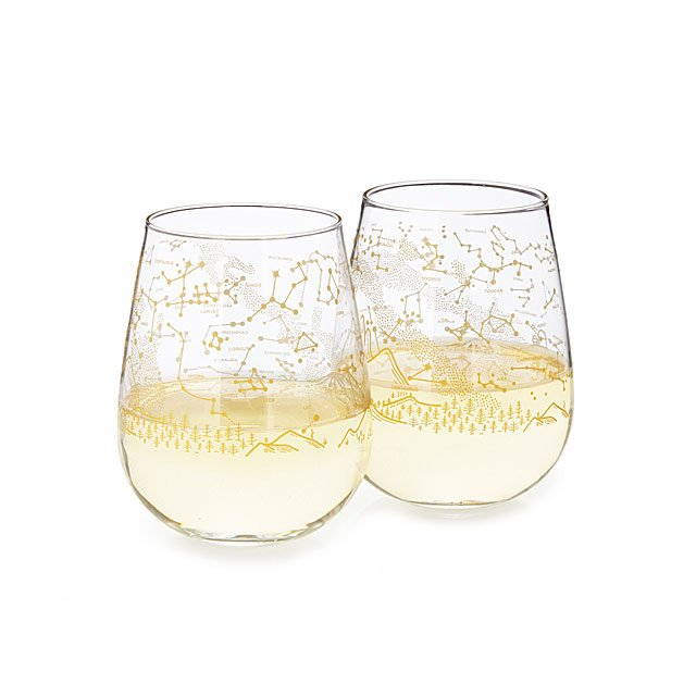 Stargazing Wine Glass Set by Uncommon Goods