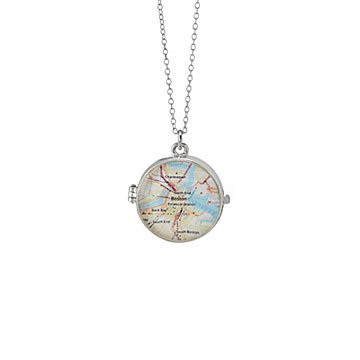 Custom Keepsake Map Locket