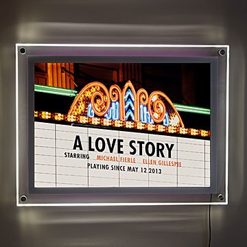 Personalized Movie Marquee Illuminated Art
