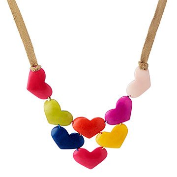 Happy Heart Tagua Bib Necklace