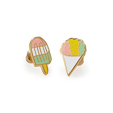 Snowcone & Popsicle Mismatched Earrings