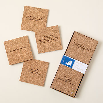 Mistaken Lyrics Coasters