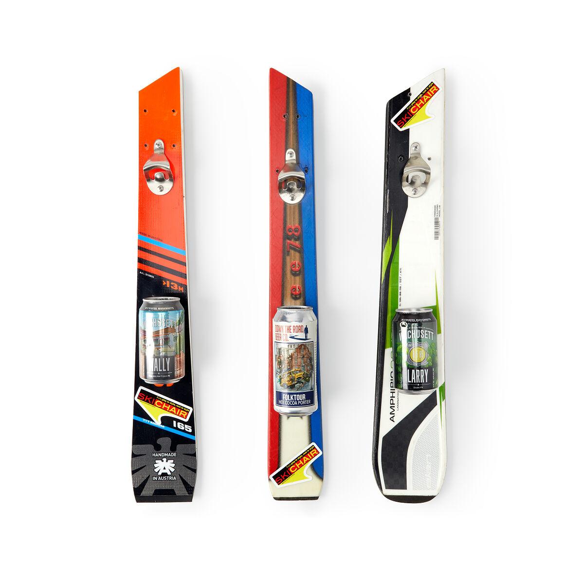 Wall Mounted Recycled Ski Bottle Opener Ski Gifts Ski