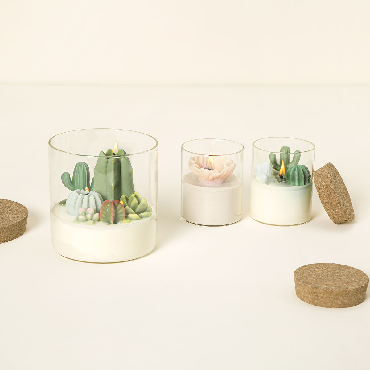 Cactus Candles, Flower Candles