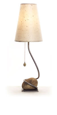 Rock and Vine Lamp