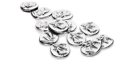 Pewter Gaurdian Angel Coins