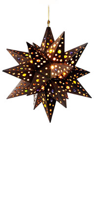 Hanging Marble Star Lamp