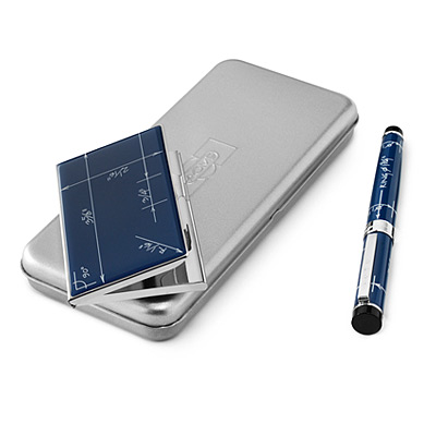 BLUEPRINT PEN AND CARD CASE