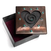 Copper & Glass Heart Reliquary Box