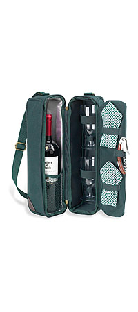UncommonGoods: SUNSET WINE TOTE :  outdoors wine tote wine carrier entertaining