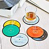 RECYCLED HOLIDAY RECORD COASTERS - SET OF 6 - UncommonGoods :  home decor coasters recycled