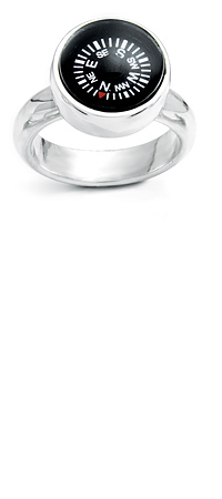 COMPASS RING | LeeAnn Herreid Compass Ring - Funky Silver Jewelry that Guides the Traveler, Adventurer or Wanderer Within | UncommonGoods
