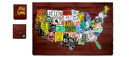 LICENSE PLATE MAP UncommonGoods