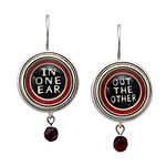 PLAYFUL WORD EARRINGS | Clever, Cheeky, Witty, Handmade Susan Gould Jewelry with Funny Phrases | UncommonGoods :  uncommon goods earrings 0-50