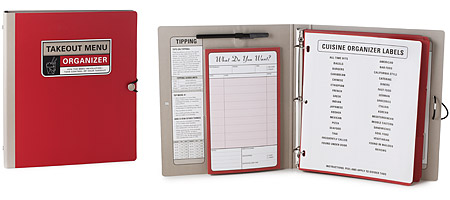 TAKE OUT MENU ORGANIZER | Restaurant Menu Organization Binder, Practical Gift for Foodies | UncommonGoods from uncommongoods.com