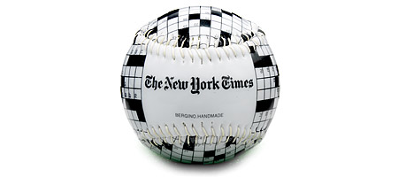 CROSSWORD PUZZLE BASEBALL | New York Times Baseball Trivia Ball Replica is Perfect Gift For Word Game Fans | UncommonGoods :  crossword puzzle baseball
