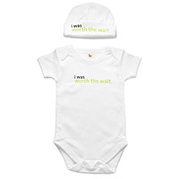 Worth The Wait Babysuit & Hat