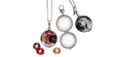 SILVER AND GLASS LOCKET - UncommonGoods :  necklace uncommongoods silver and glass locket glass