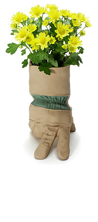 PORCELAIN GLOVE VASE | Ceramic Worker's Glove Planter and Vase Gives Gardening Enthusiasts' Homes a Rustic Feel | UncommonGoods :  flower love pot planter