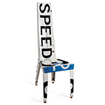 SPEED CHAIR | Unique, Quirky Recycled Speed Limit Road Sign Chair, Handmade by Boris Bally | UncommonGoods :  handmade recycled street sign speed chair