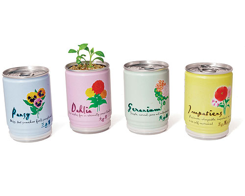 FLOWERS IN A CAN - SET OF 2