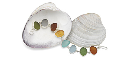 SEA GLASS BRACELET - EARTH TONES - UncommonGoods