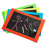 CHALKBOARD PLACEMAT SET OF 4 | Chalkboard Placemats Make Mealtime Fun and Creative | UncommonGoods :  placemats children meals