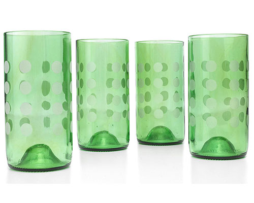 MINT TUMBLER WITH DOTS SET OF 4