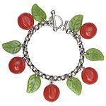 Vintage look Cherries Bakelite Bracelet