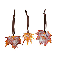Real Maple Leaf Ornaments - Set of 3