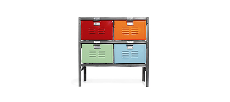 BASKET LOCKER, from UncommonGoods :  furniture basket nice drawers multicolor