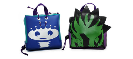 ALIEN AND DINOSAUR BACKPACKS - UncommonGoods :  uncommongoods backpacks alien alien and dinosaur backpacks