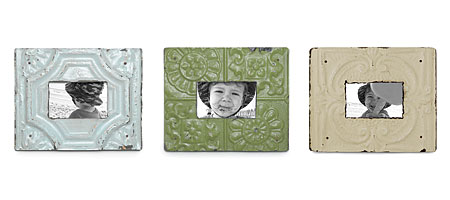 RECLAIMED TIN FRAMES | Reclaimed Tin Photo Frames Blend Antique Rustic Charm with Unique Modern Design | UncommonGoods