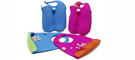 NEOPRENE BABY BIB AND BOTTLE TOTE SET - UncommonGoods