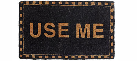 USE ME MAT - UncommonGoods :  front door mat humor housewears uncommongoods
